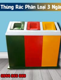 thùng rác nhựa 3 ngăn