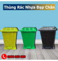 Thùng rác nhựa đạp chân
