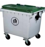 Thùng rác nhựa hdpe 1100L có bánh xe