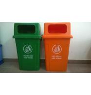 Thùng rác nhựa HDPE 90L, nắp hở
